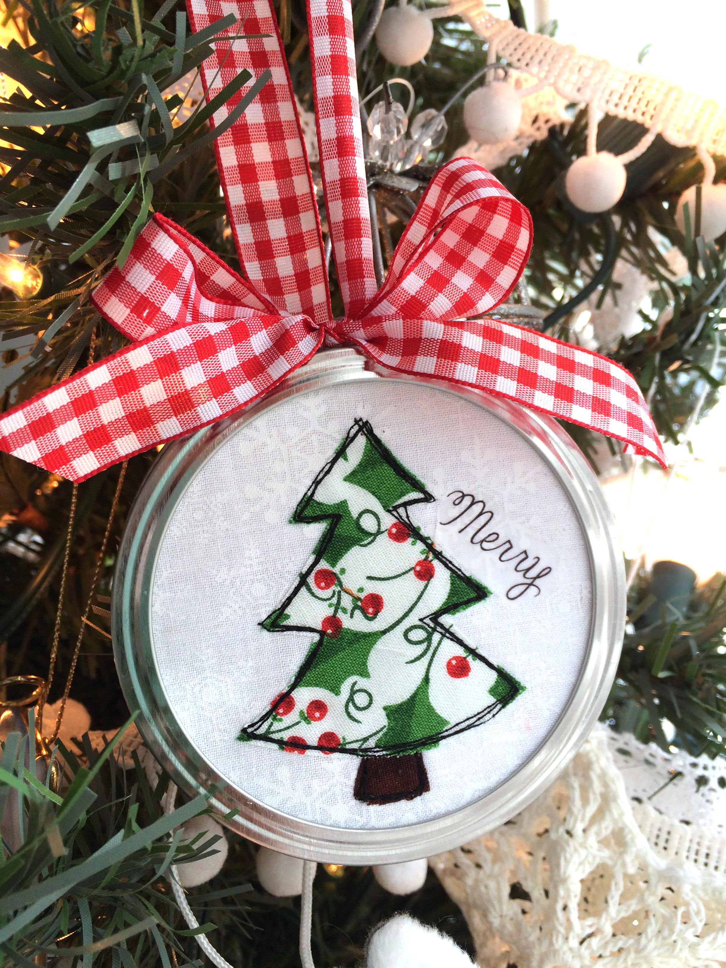 christmas tree applique ornament 10