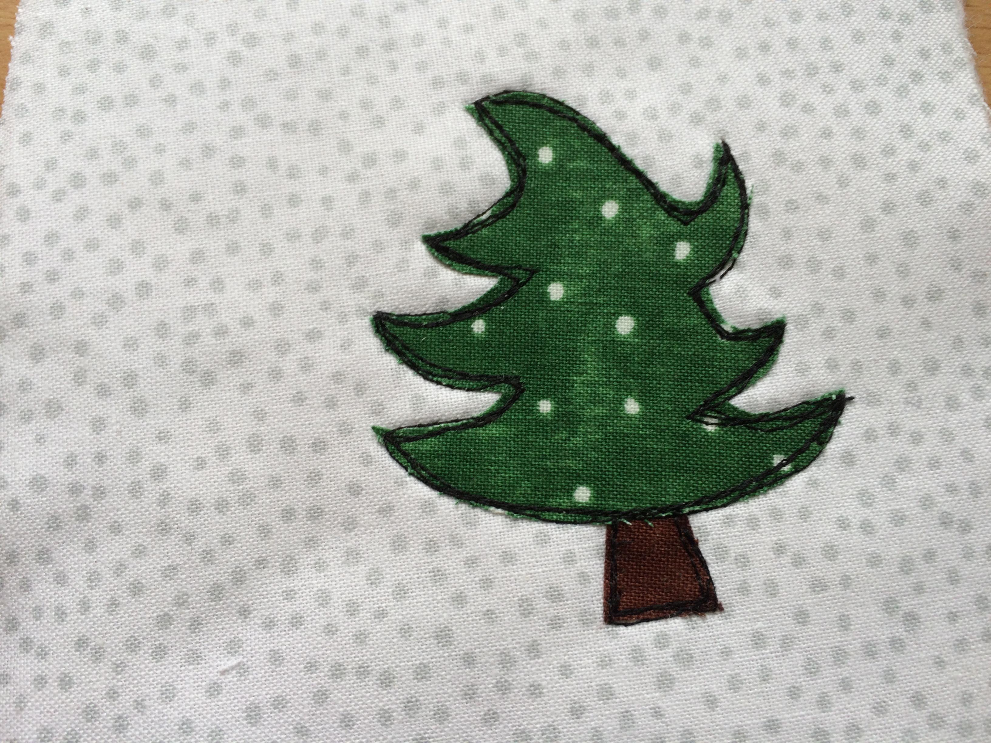 christmas tree applique ornament2