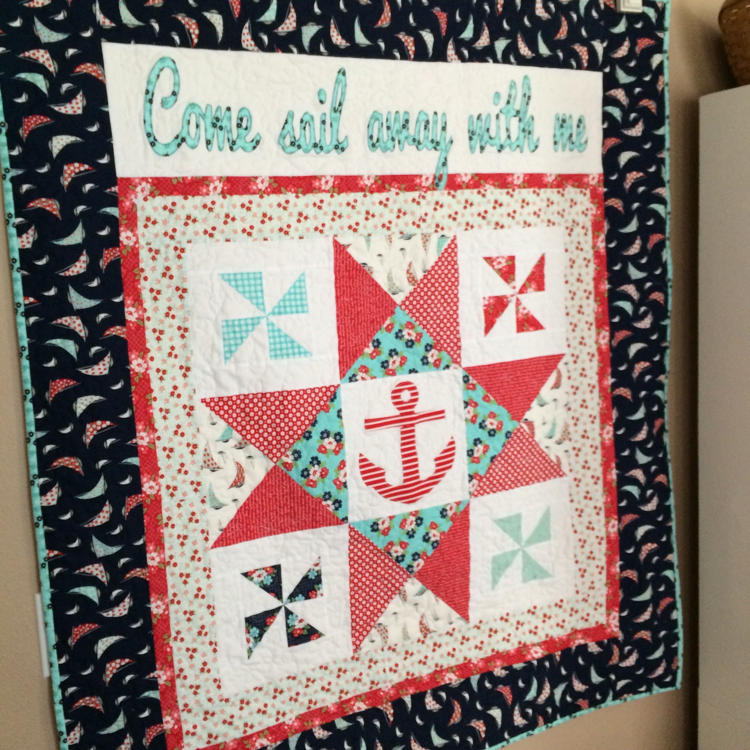 come sail away with me anchor quilt