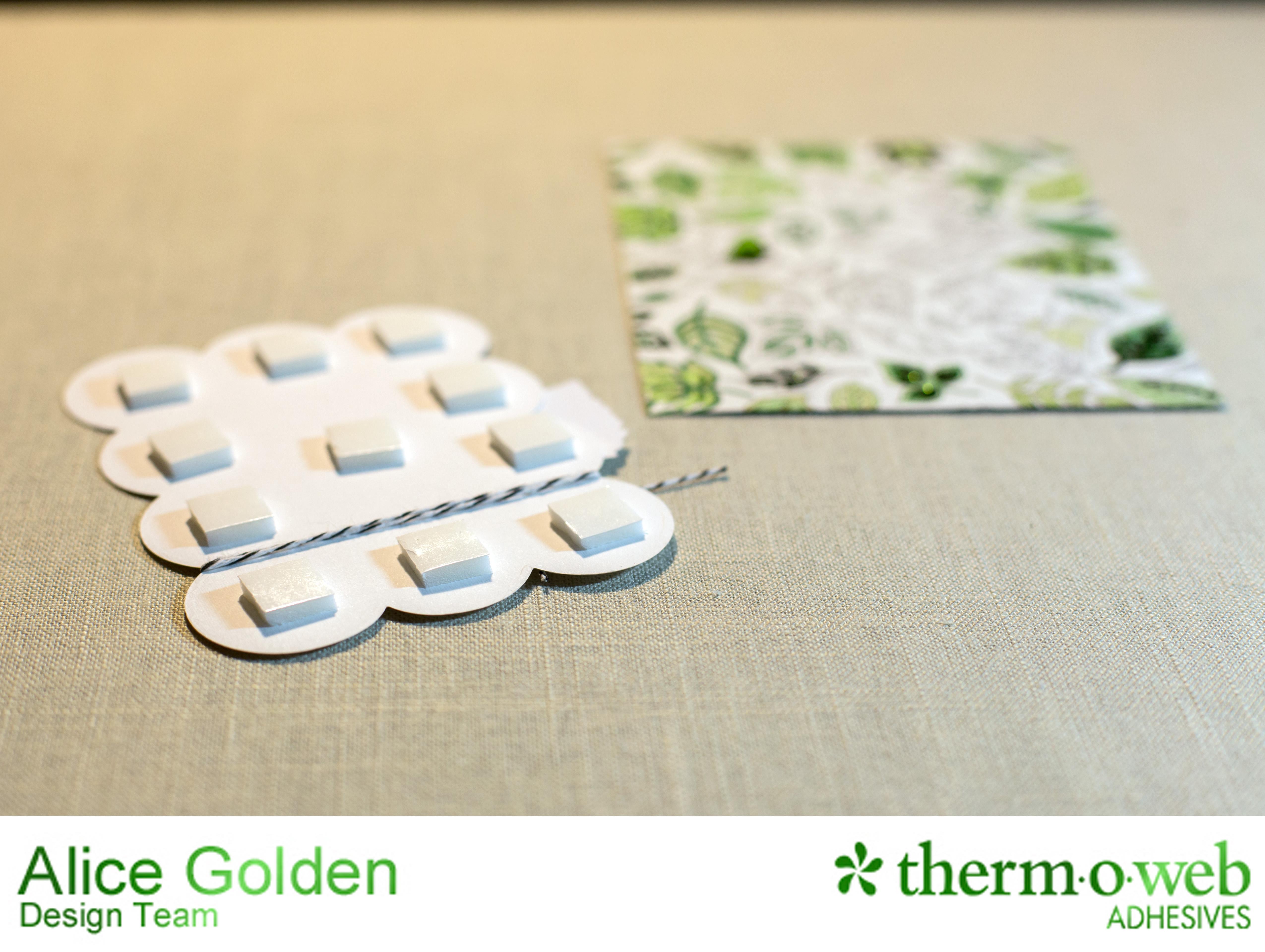 Alice Golden Therm O Web Deco Foil Coloring Book Card 3