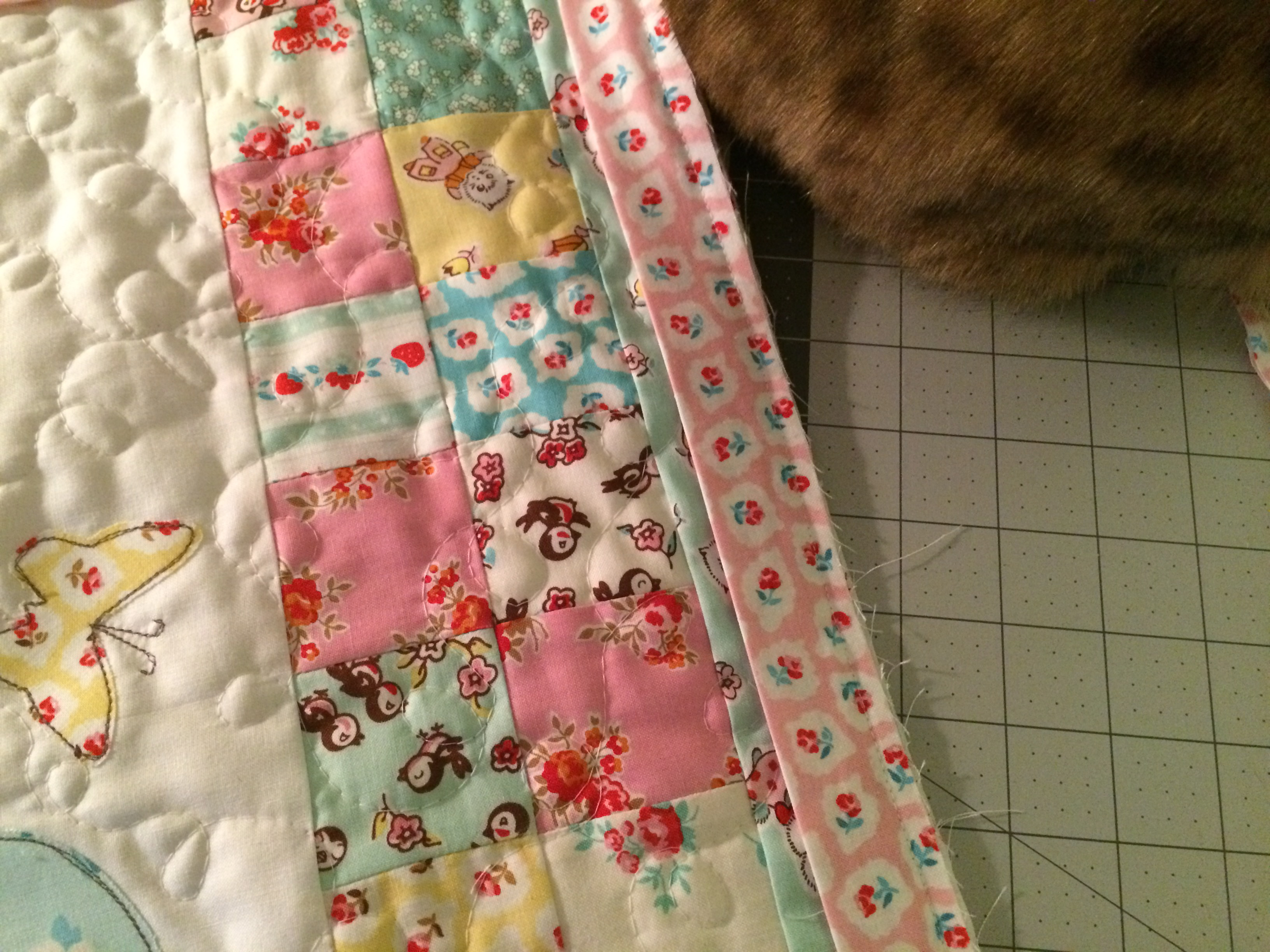 bunny applique pillow and quilt 20