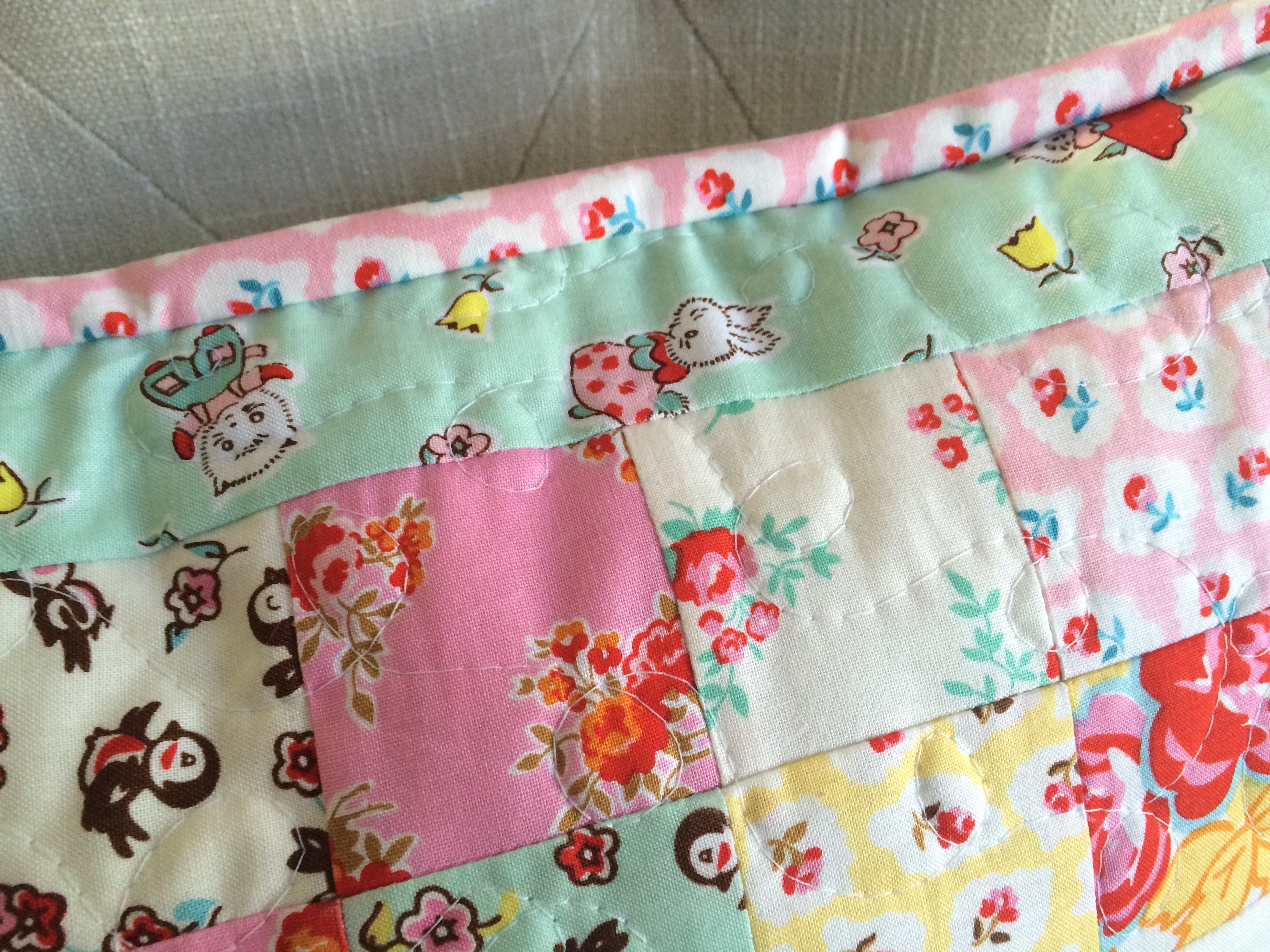 bunny applique pillow and quilt 8
