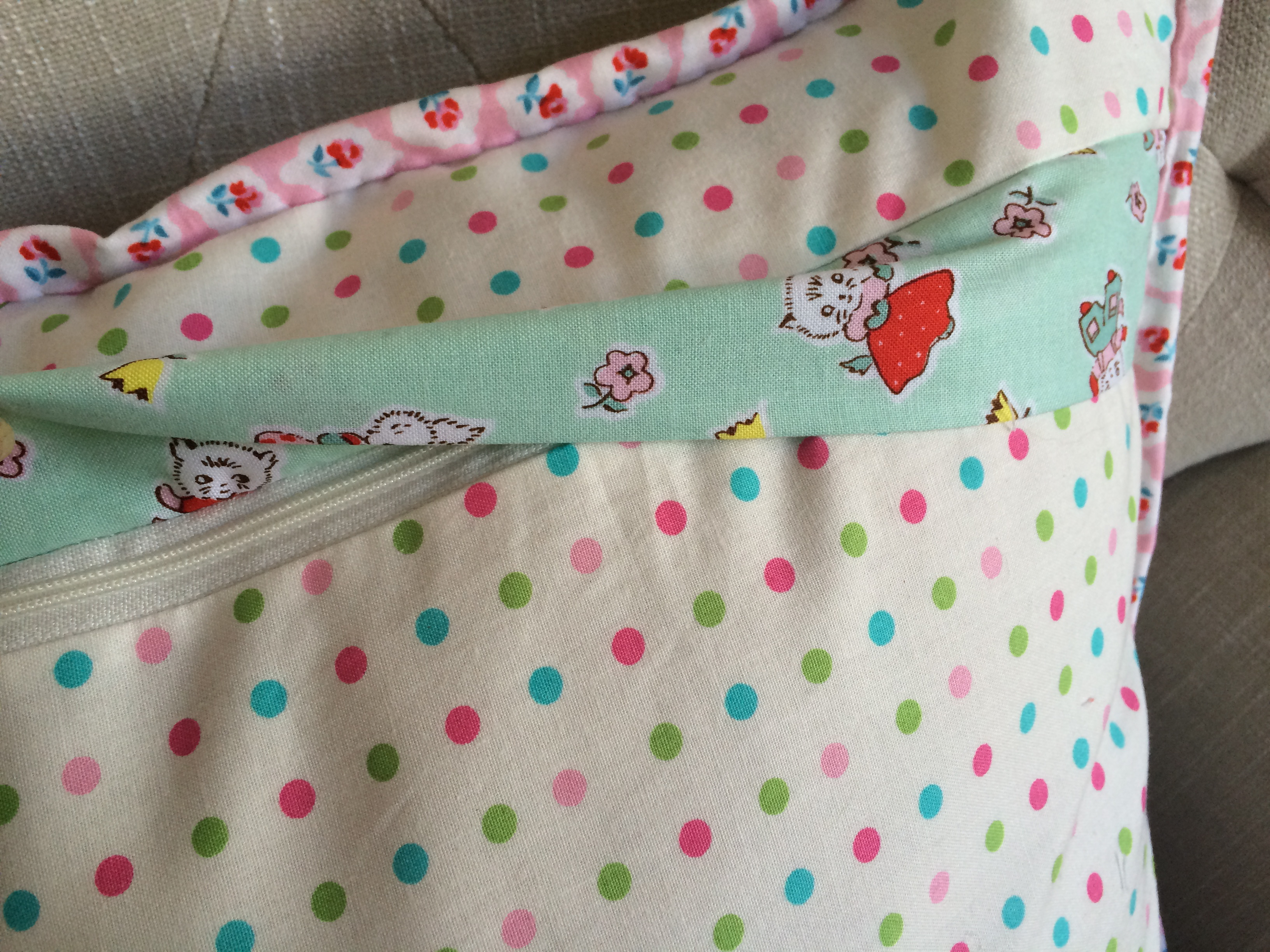 bunny applique pillow and quilt 9