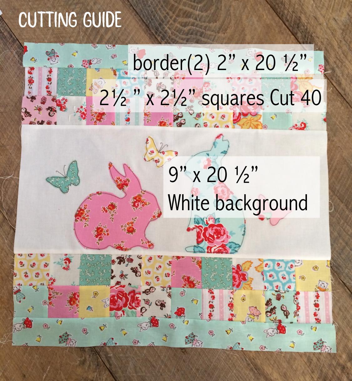 bunny pillow cutting guide