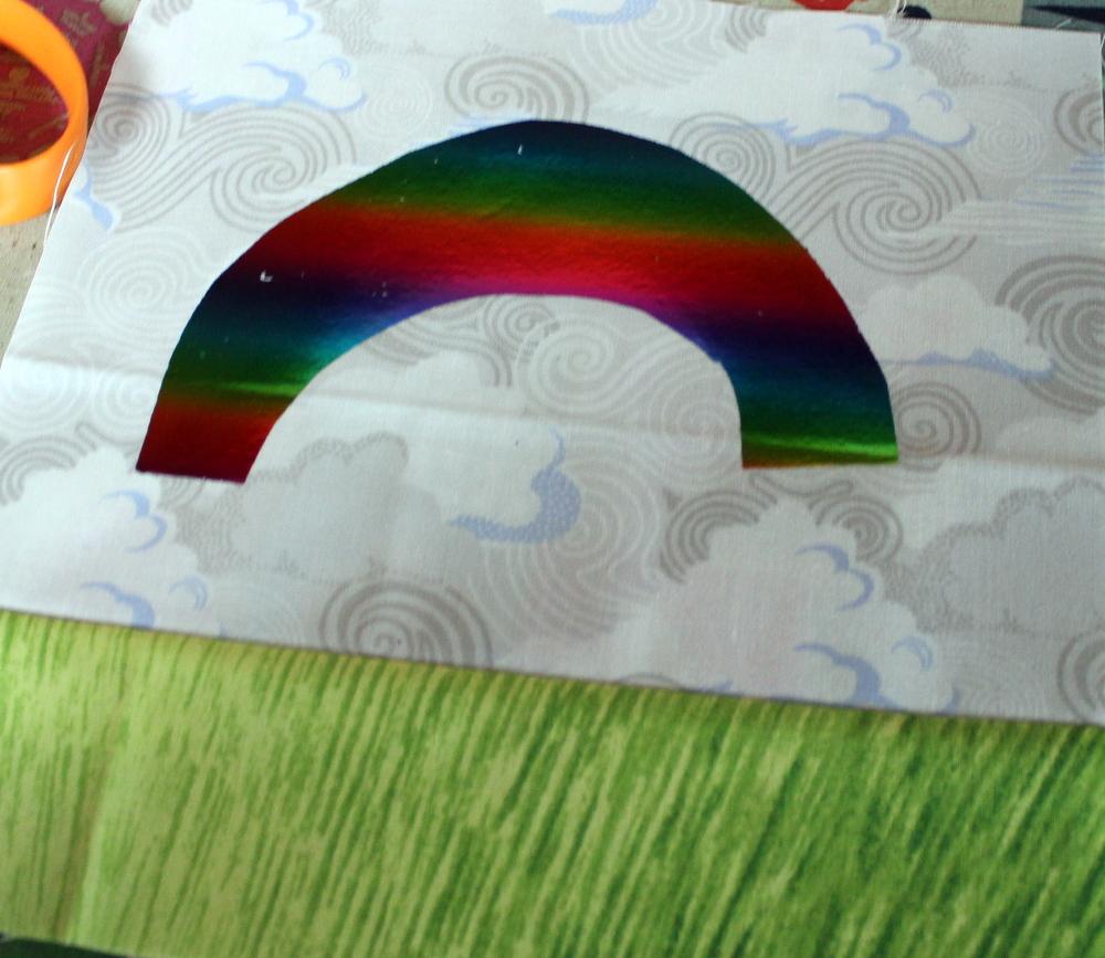 foiled rainbow shape