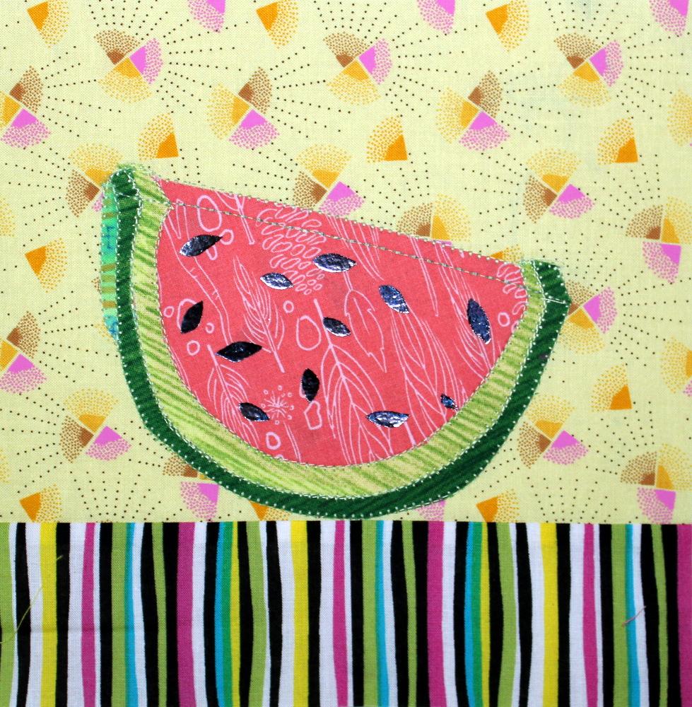 Foiled Watermelon Block