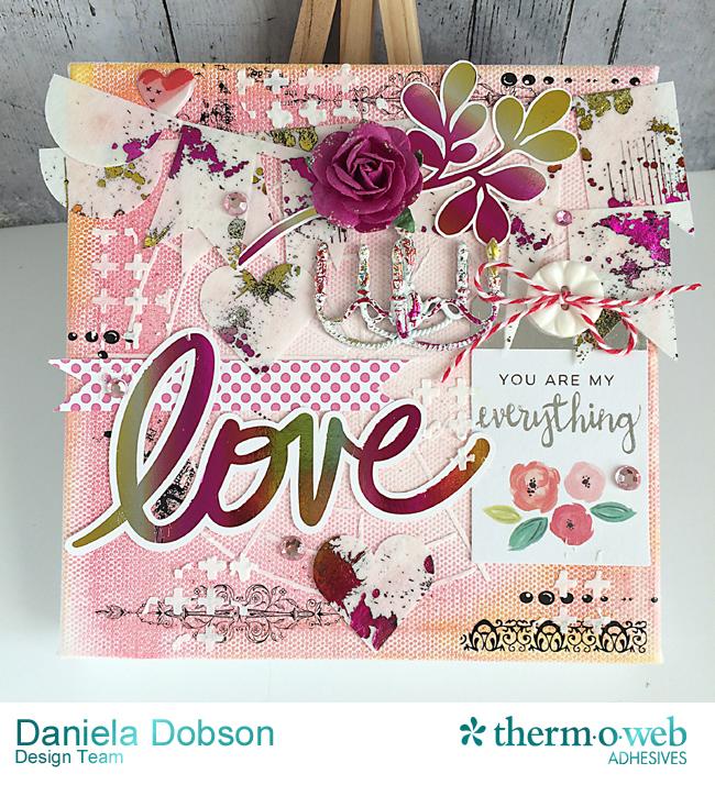 Love canvas by Daniela Dobson