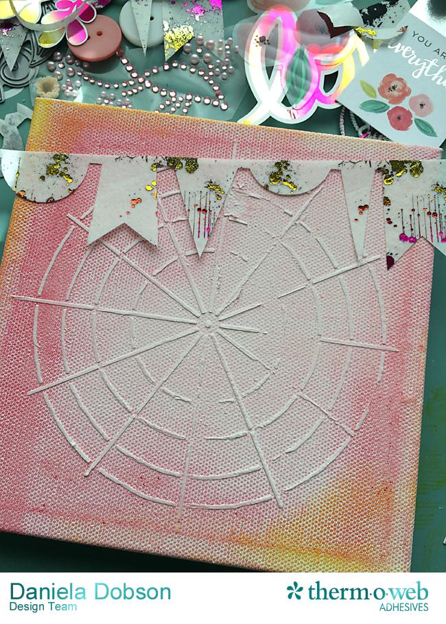 Love canvas step 3 by Daniela Dobson