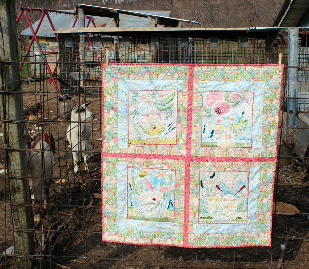 The Promise of Spring Log Cabin Mini Quilt
