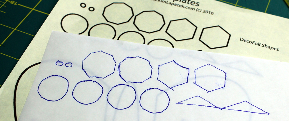 shapes onto hot melt adhesive