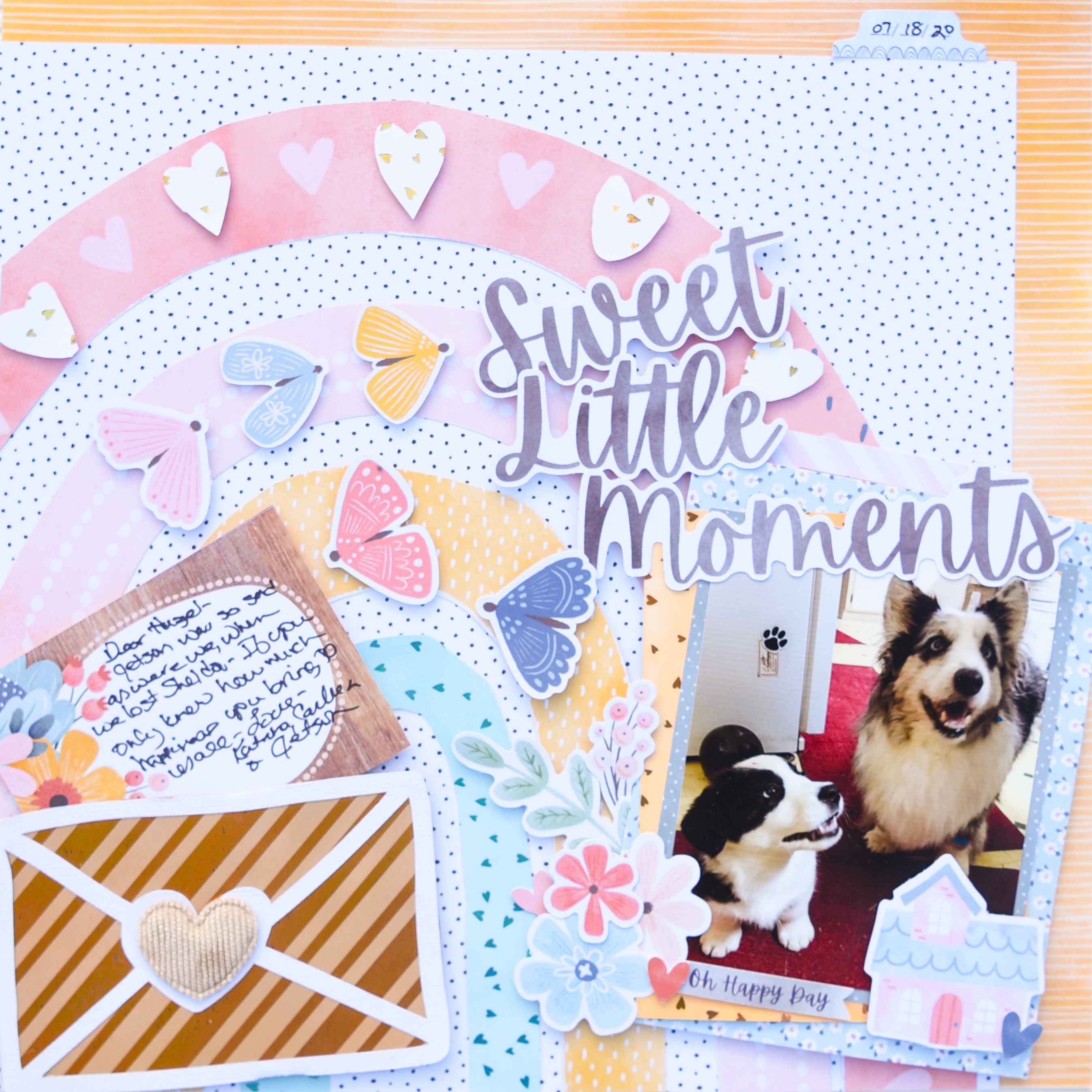 FS Sweet Little Memories Scrapbook Layout by Katrina Hunt Featuring DecoFoil Toner Sheets