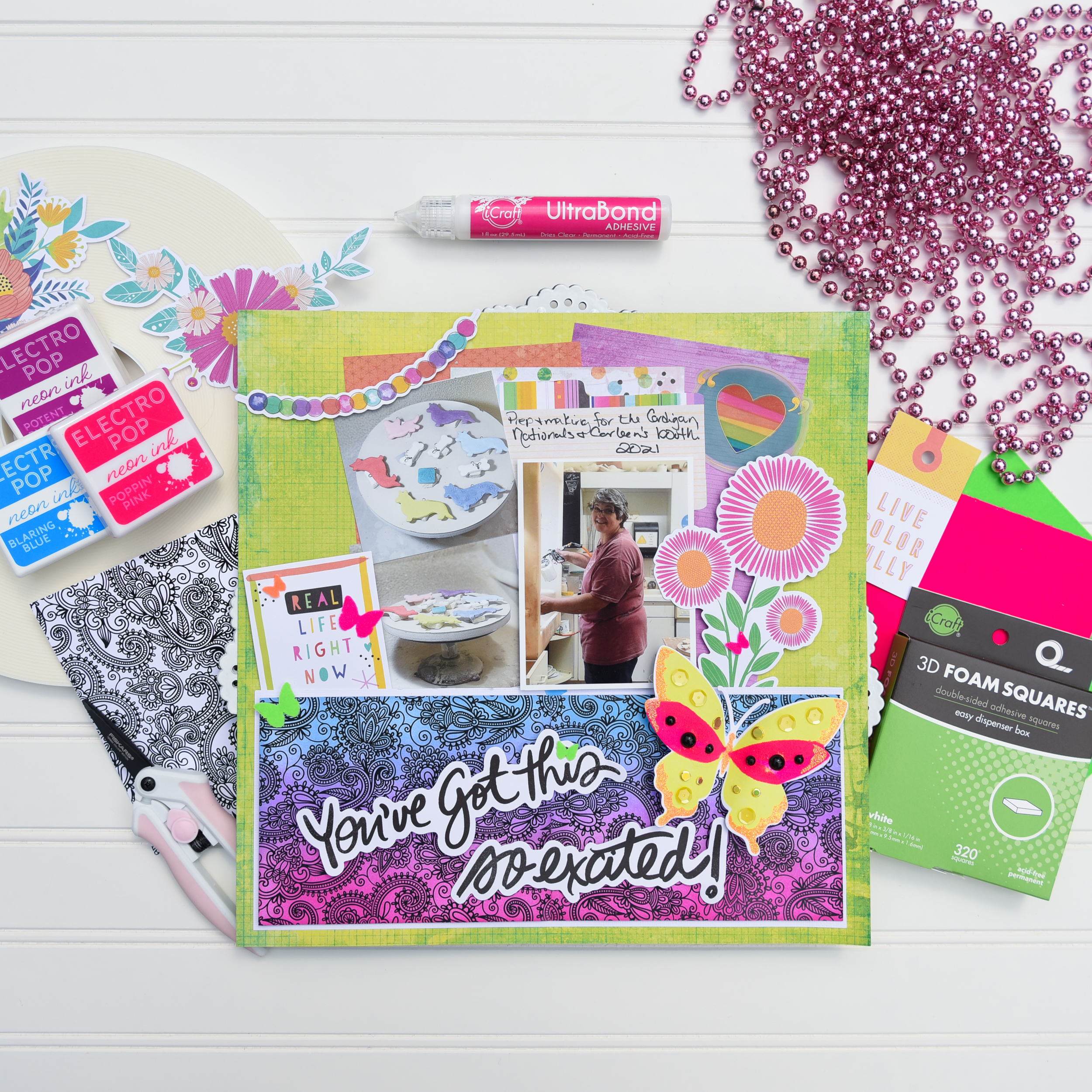 GLAM FS You've Got This Layout using DecoFoil Unity Toner Card Fronts by Katrina Hunt